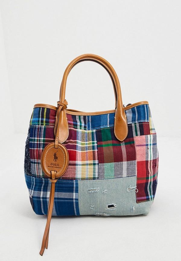 женская сумка-шоперы polo ralph lauren, разноцветная