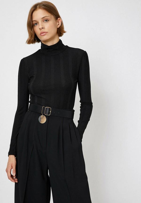 женская водолазка koton, черная