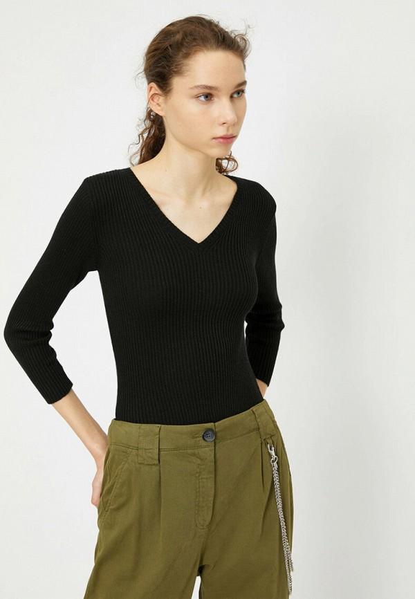 женский пуловер koton, черный