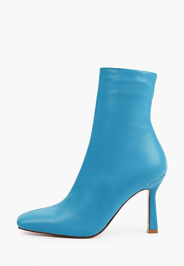 женские высокие ботильоны diora.rim, голубые
