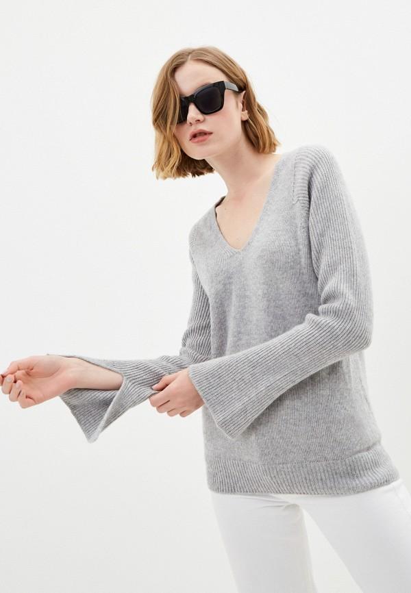 женский пуловер stefanel, серый