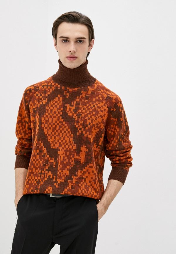 мужская водолазка just cavalli, оранжевая