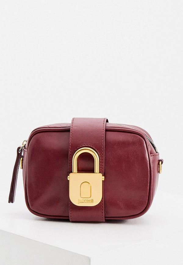 женская поясные сумка just cavalli, фиолетовая