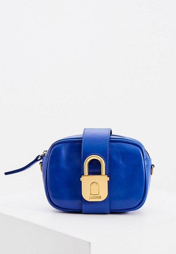 женская поясные сумка just cavalli, синяя