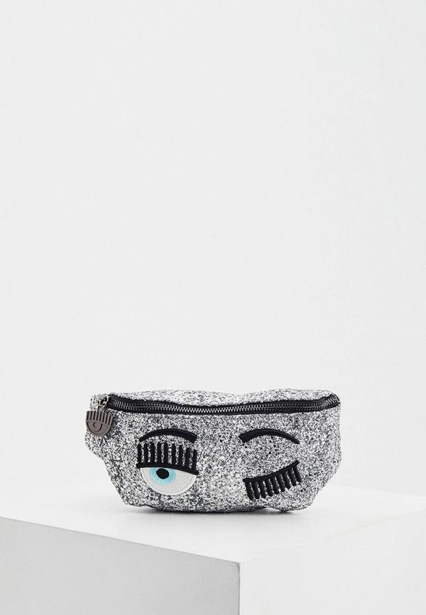 женская поясные сумка chiara ferragni collection, серебряная