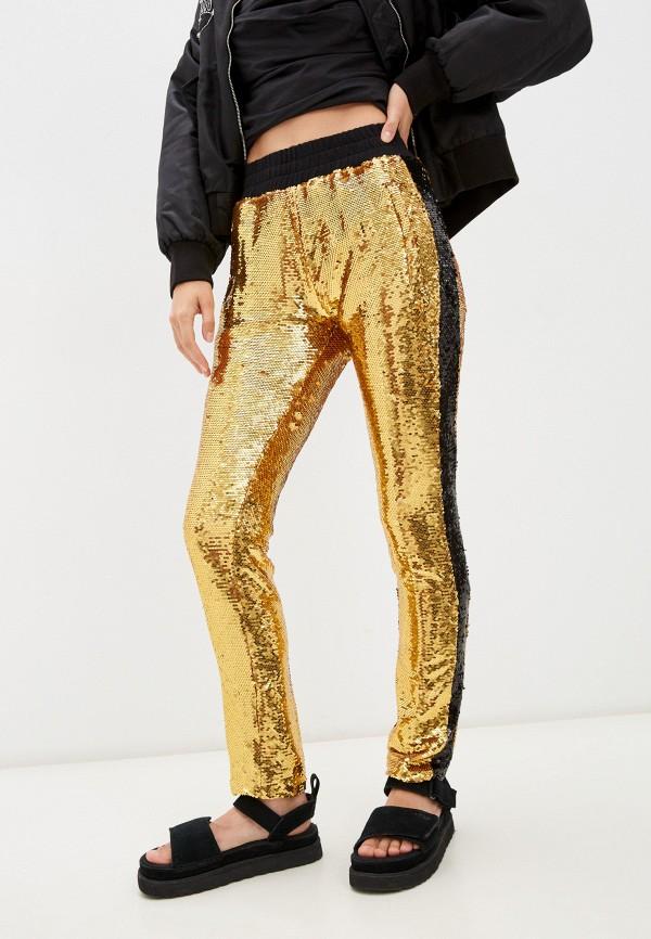женские повседневные брюки chiara ferragni collection, золотые