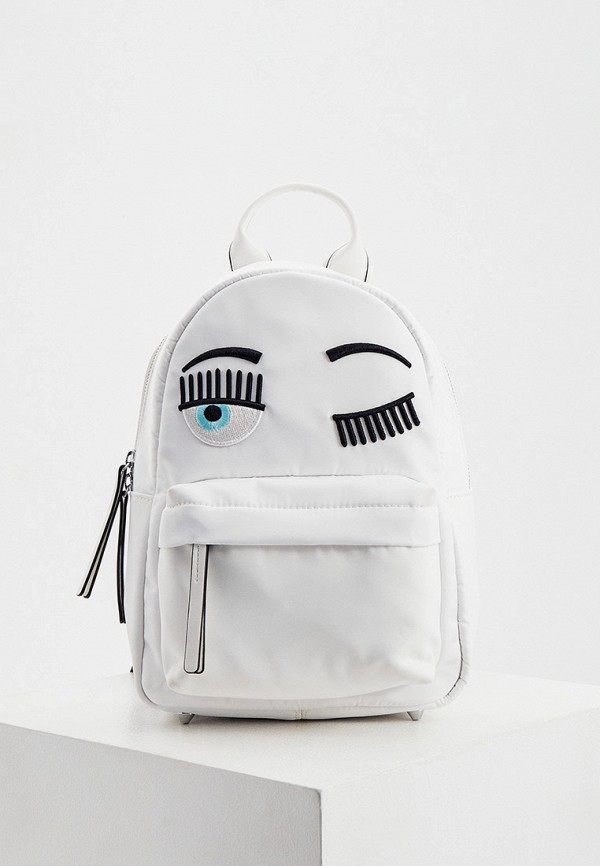 женский рюкзак chiara ferragni collection, белый