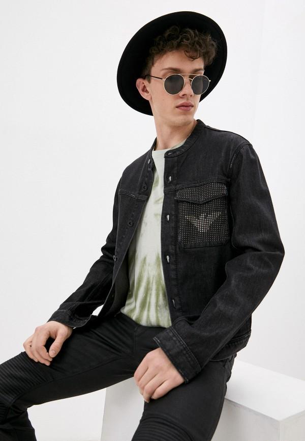 мужская джинсовые куртка emporio armani, черная