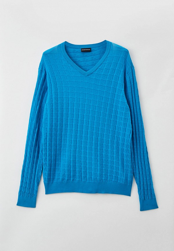 мужской пуловер emporio armani, голубой