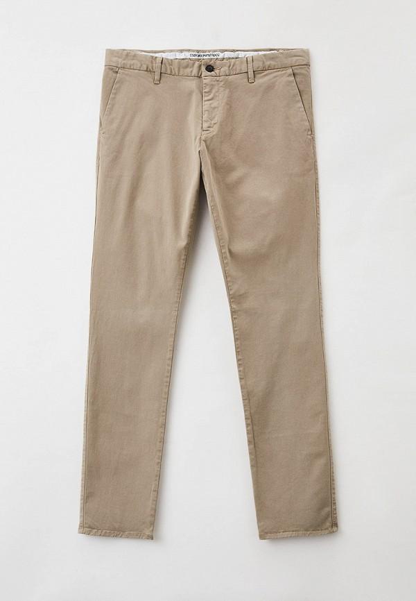 мужские повседневные брюки emporio armani, бежевые