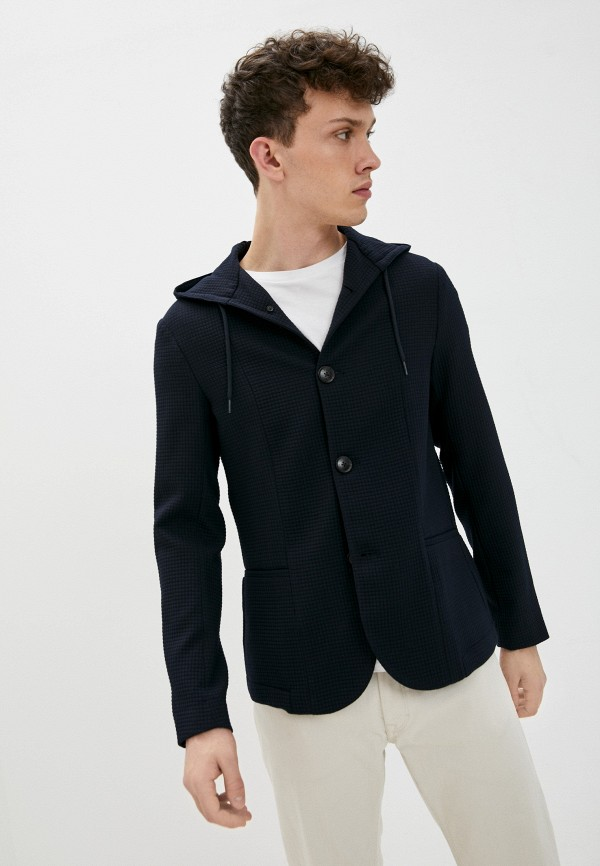 мужской пиджак emporio armani, синий
