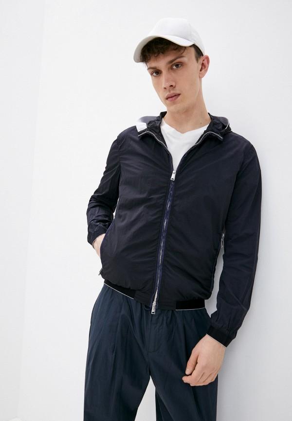 мужская куртка emporio armani, синяя