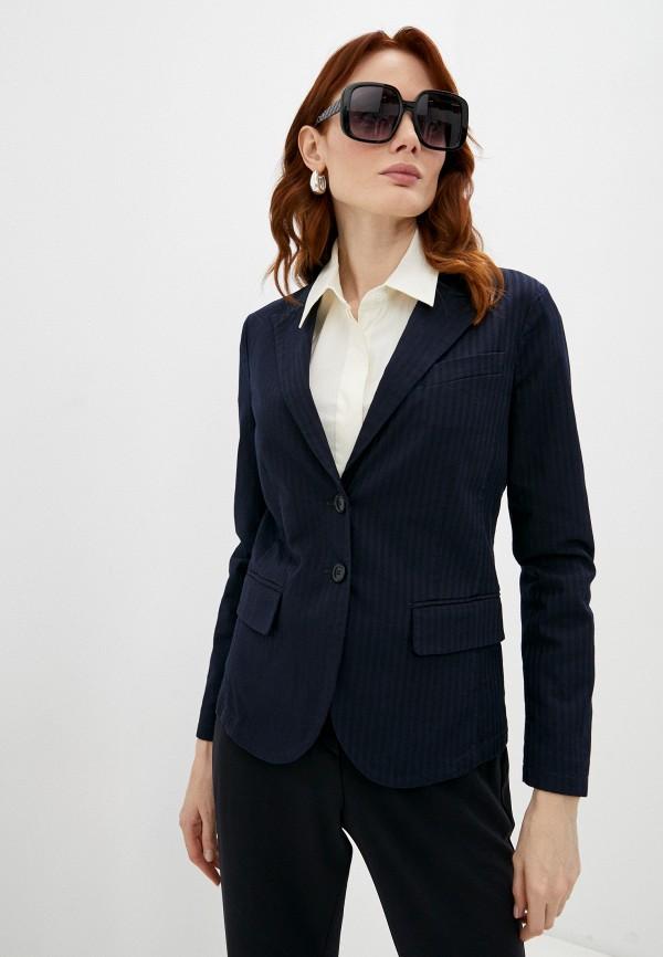 женский пиджак emporio armani, синий