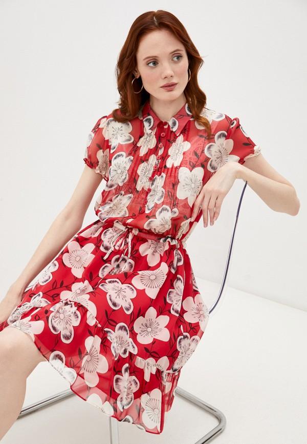 женское платье-рубашки emporio armani, красное