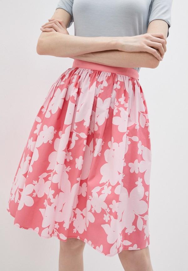 женская юбка-трапеции emporio armani, розовая