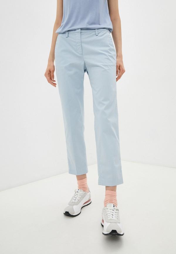 женские повседневные брюки emporio armani, голубые