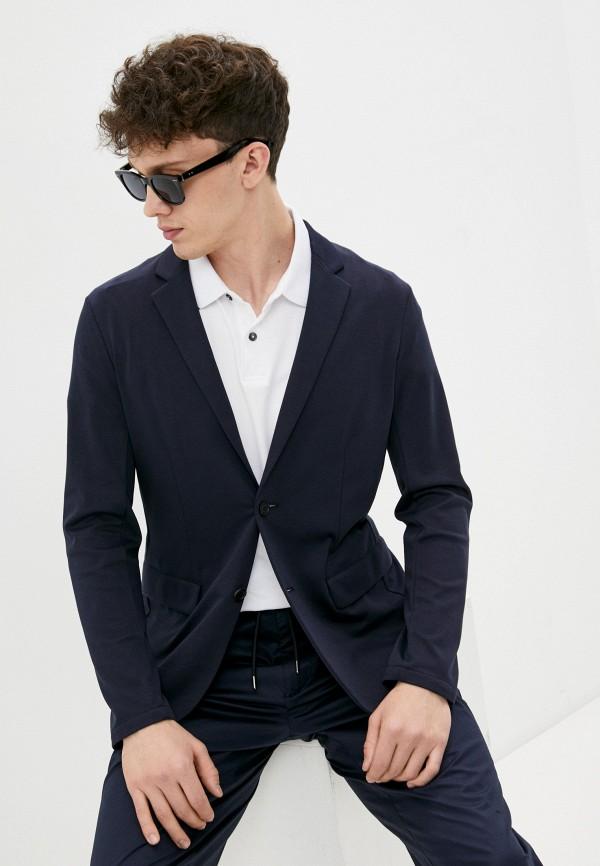 мужской пиджак armani jeans, синий