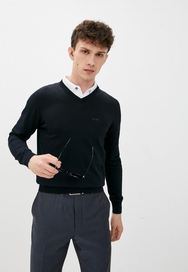 мужской пуловер armani jeans, синий