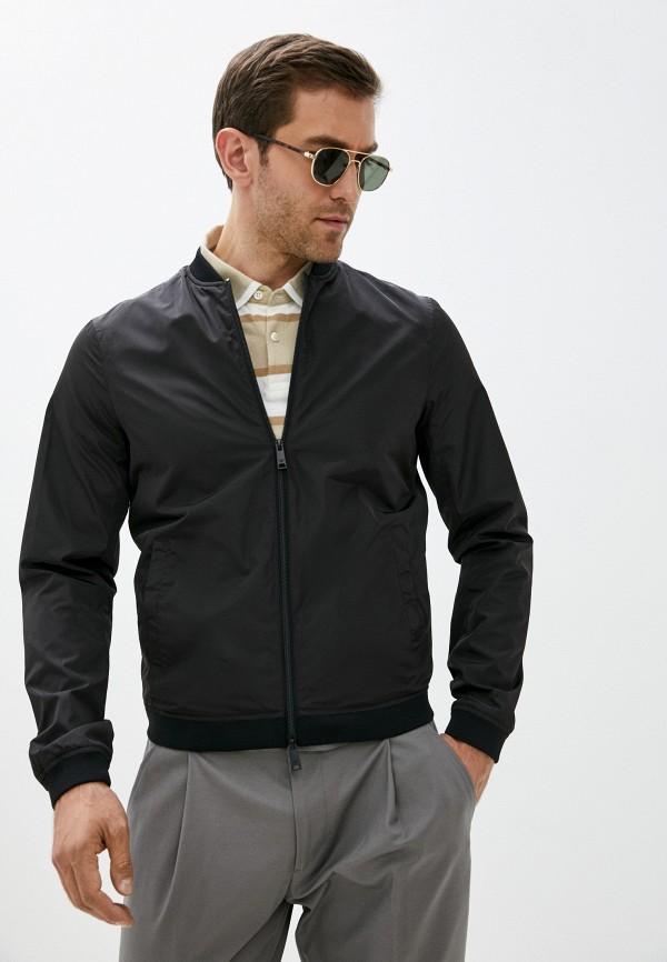 мужская куртка бомбер armani jeans, черная