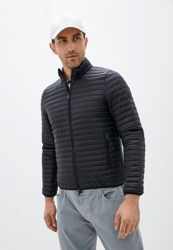 мужская утепленные куртка armani jeans, черная