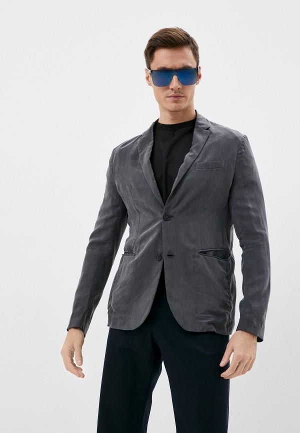 мужской пиджак emporio armani, серый