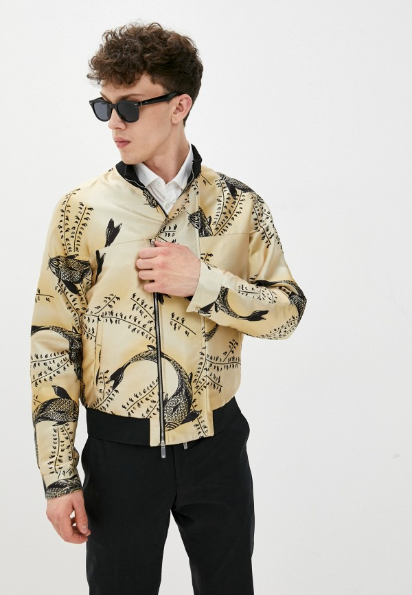 мужская куртка emporio armani, желтая