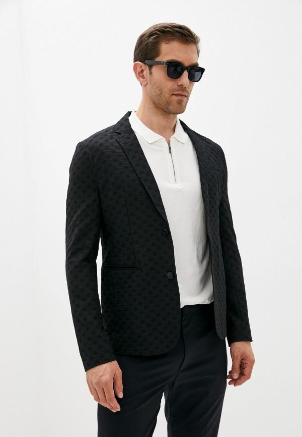 мужской пиджак emporio armani, черный