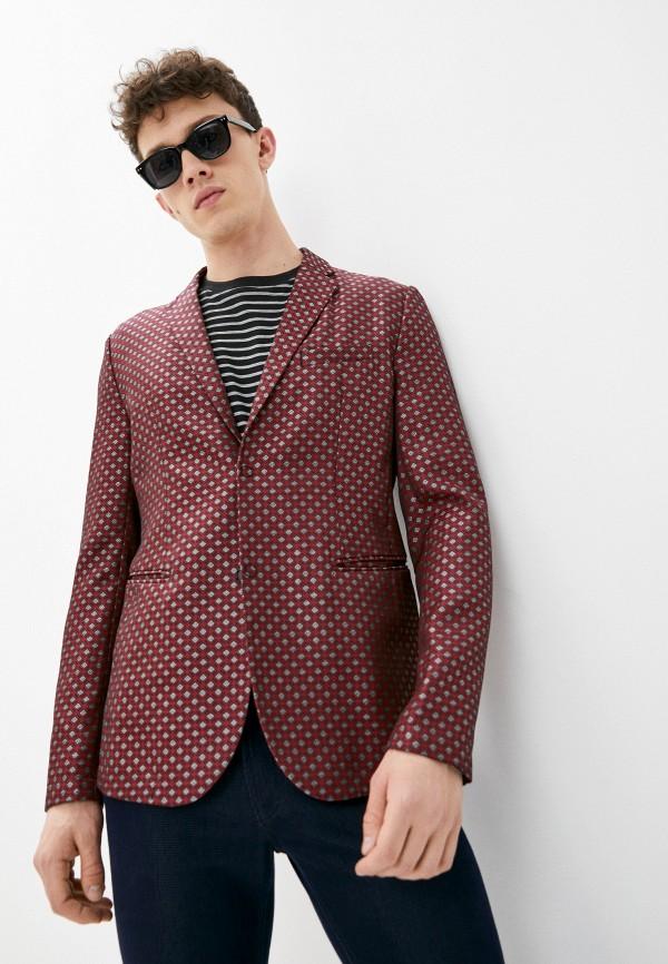 мужской пиджак emporio armani, бордовый