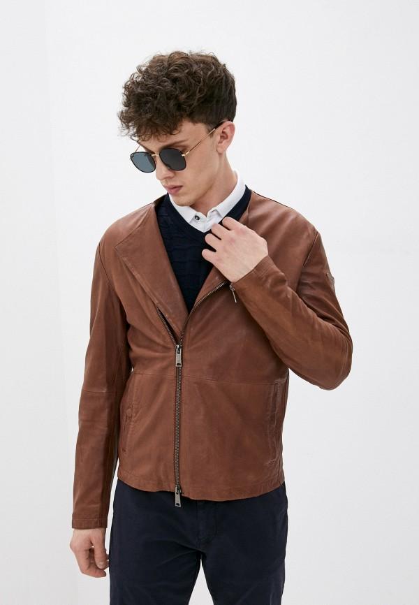 мужская куртка emporio armani, коричневая