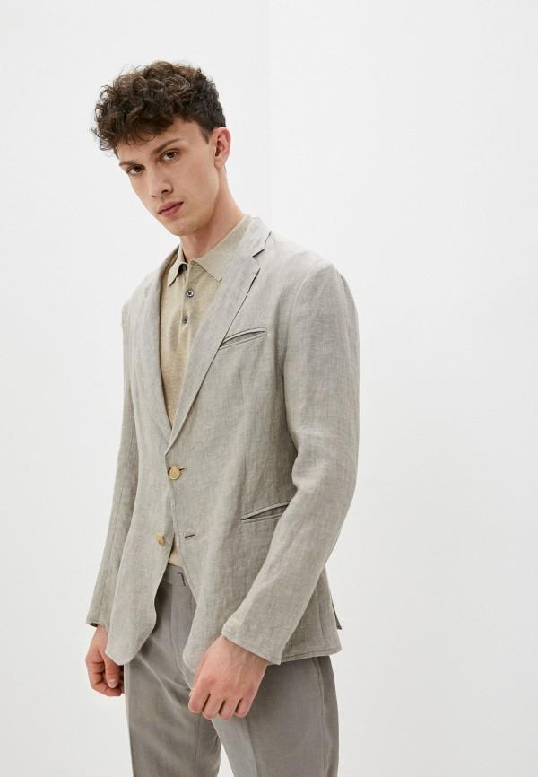 мужской пиджак emporio armani, бежевый