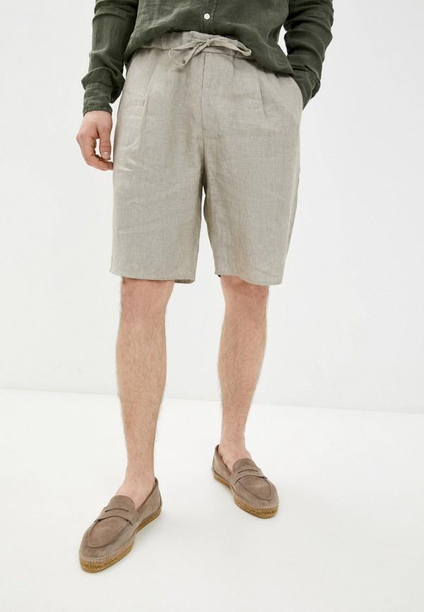 мужские повседневные шорты emporio armani, бежевые