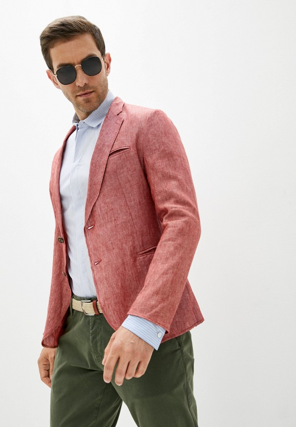 мужской пиджак emporio armani, красный