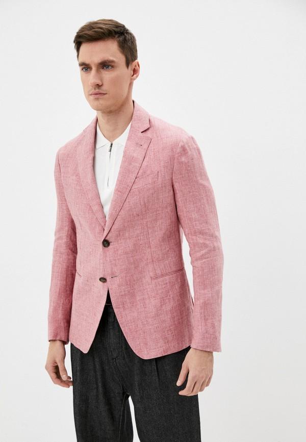 мужской пиджак emporio armani, розовый