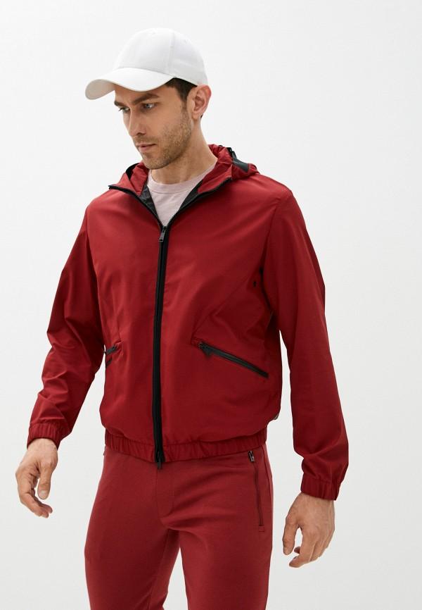мужская куртка emporio armani, бордовая