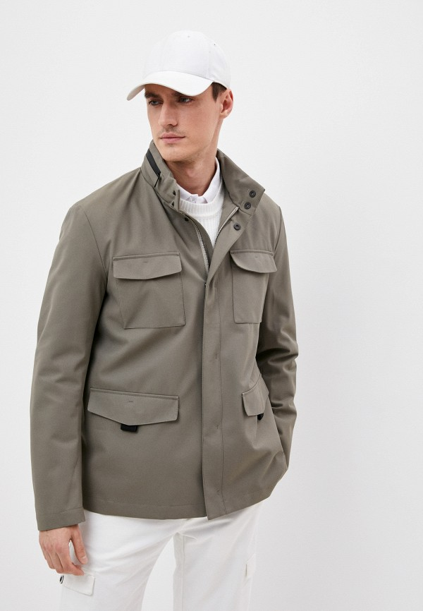 мужская куртка emporio armani, бежевая