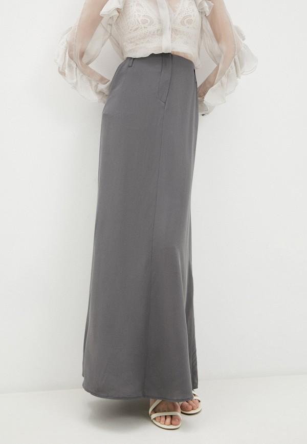 женская юбка-трапеции emporio armani, серая
