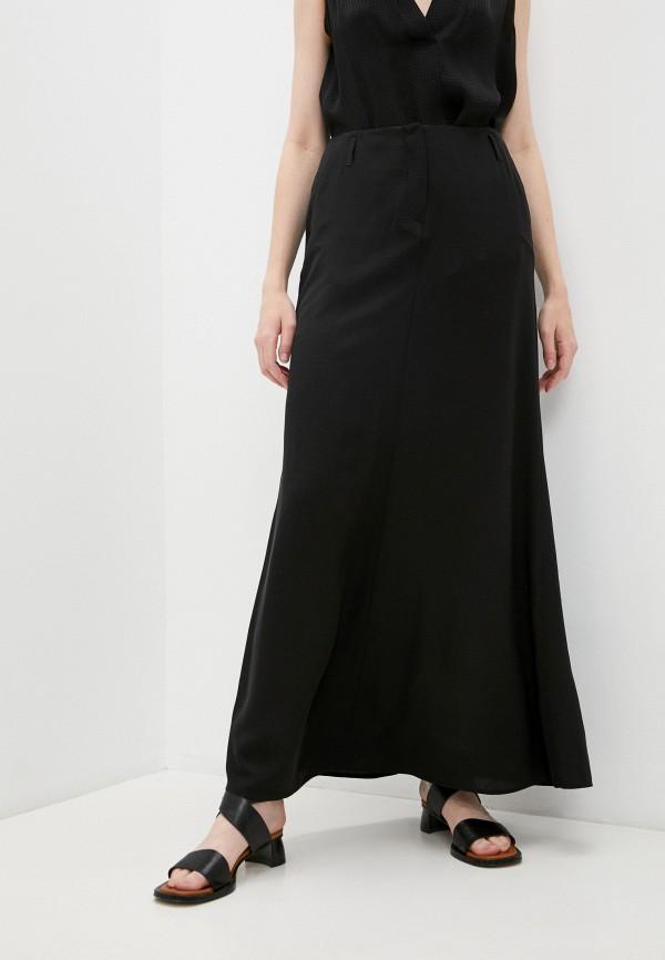 женская юбка-трапеции emporio armani, черная