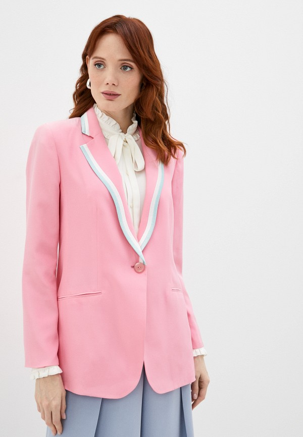 женский жакет emporio armani, розовый