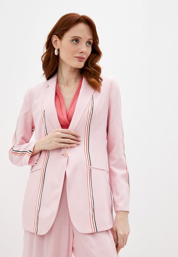 женский пиджак emporio armani, розовый