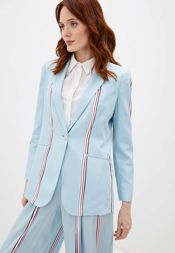 женский пиджак emporio armani, голубой