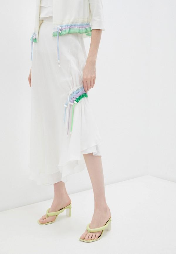 женская юбка-трапеции emporio armani, белая