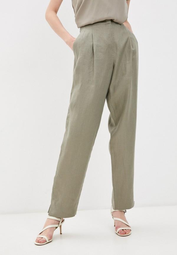 женские повседневные брюки emporio armani, хаки