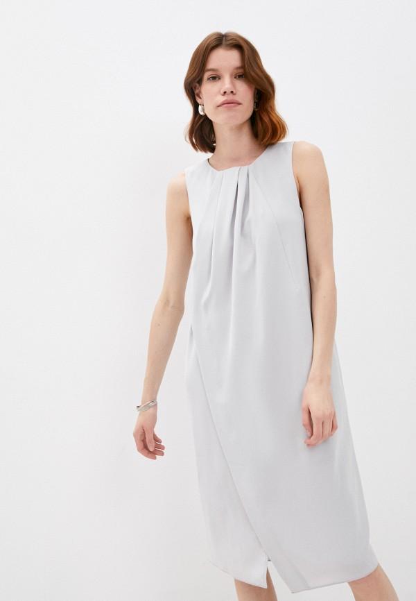 женское повседневные платье emporio armani, серебряное
