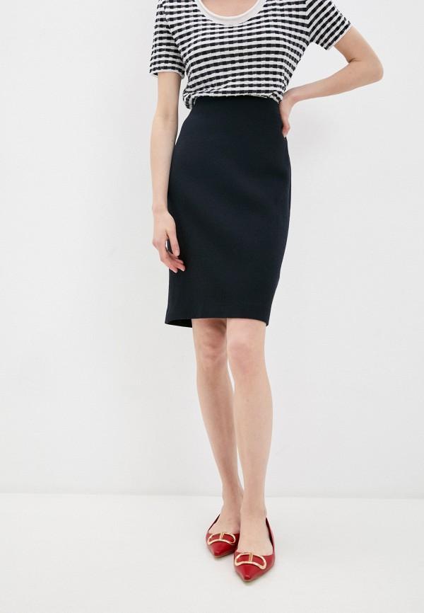 женская прямые юбка emporio armani, синяя