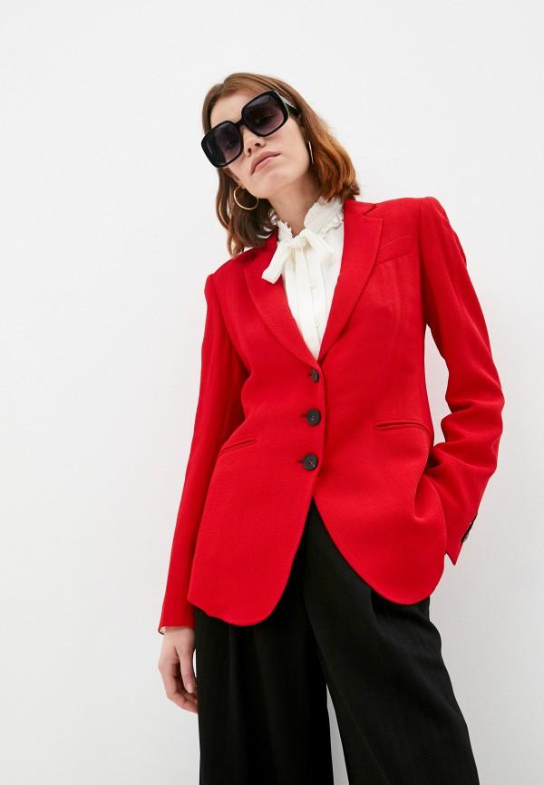 женский пиджак emporio armani, красный