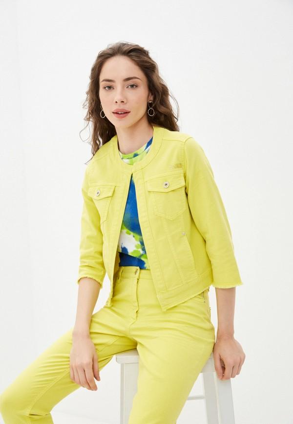 женская джинсовые куртка betty barclay, желтая