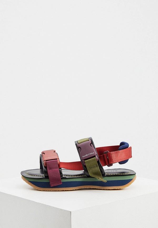 женские сандалии see by chloe, разноцветные