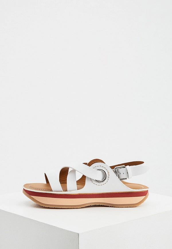 женские сандалии see by chloe, белые