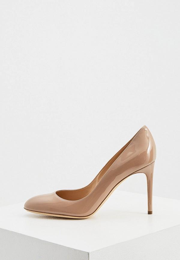 женские туфли с закрытым носом sergio rossi, коричневые
