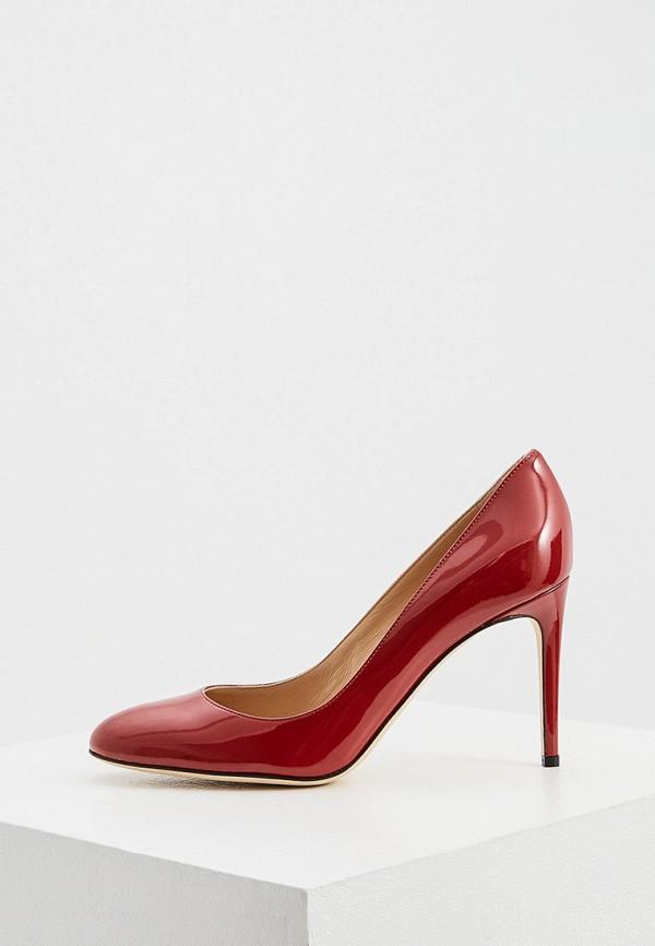 женские туфли с закрытым носом sergio rossi, красные